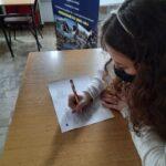 Zdjęcie nr 3 podczas testu z języka angielskiego w ramach programu Erasmus+